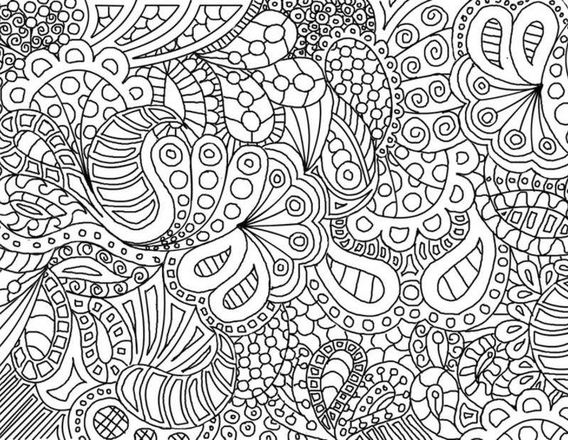 pattern coloring pages printable free - photo#22