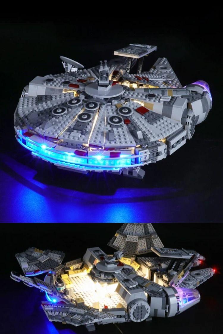 Light Kit For Millennium Falcon 75257 In 2020 Led Light Kits Star Wars Light Star Wars Collection