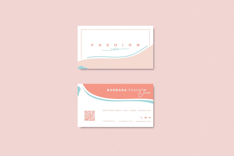Business card fashion abstract Minimalist Template in 2020 | Fashion business  cards, Business cards beauty, Simple illustration