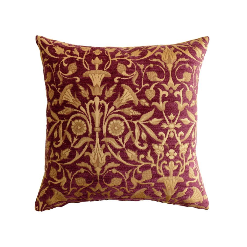 Tudor red u gold tapestry cushion wallpaper and wall colours