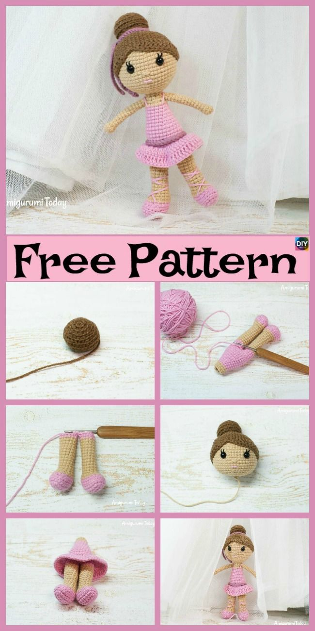 Crochet Ballerina Doll Amigurumi - Free Pattern | Amigurumi ...