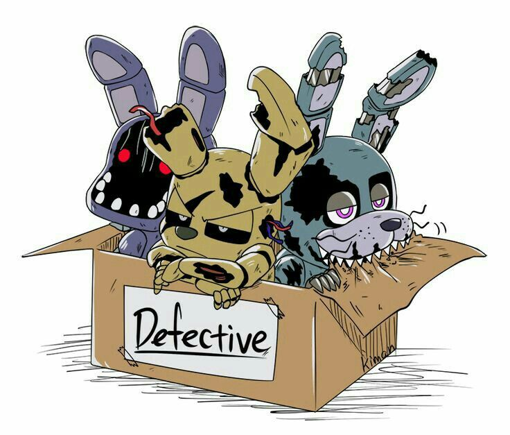 FNaF Springtrap  Bonnie  Nightmare Bonnie   Five Nights At Freddys     FNaF Springtrap  Bonnie  Nightmare Bonnie