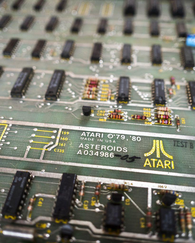 Atari Asteroids Cocktail Table Pcb Printed Vintage Video Games Cocktail Tables Atari