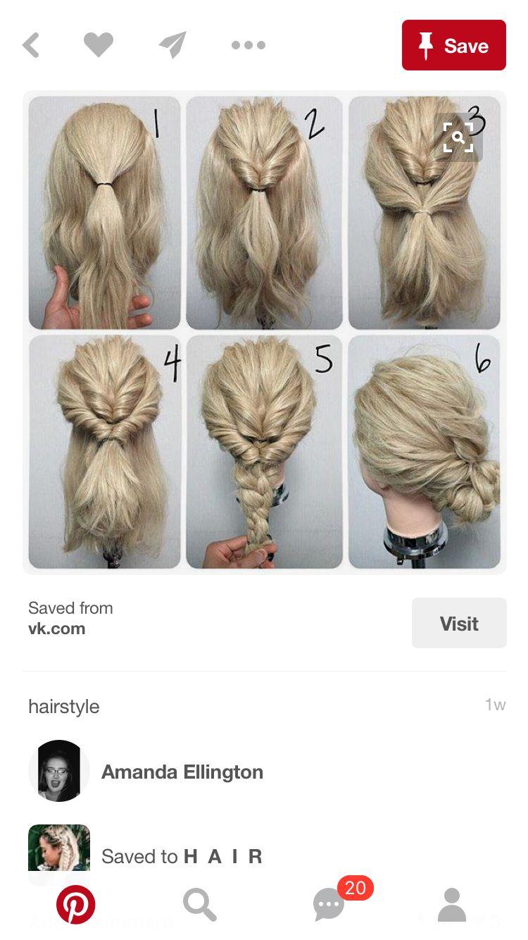 Pin by kaisa ulfsdotter on frisyr pinterest hair style bun updo