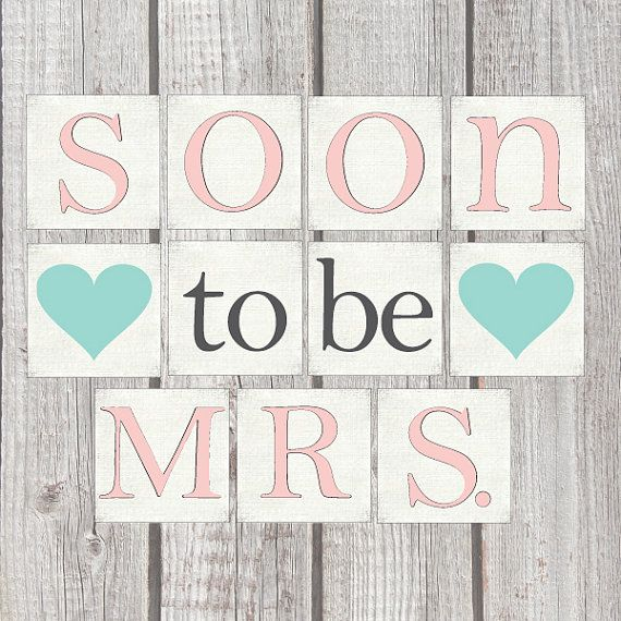 Well-liked Printable Digital DIY Banner in any color | Bride to Be, Soon To  YV52