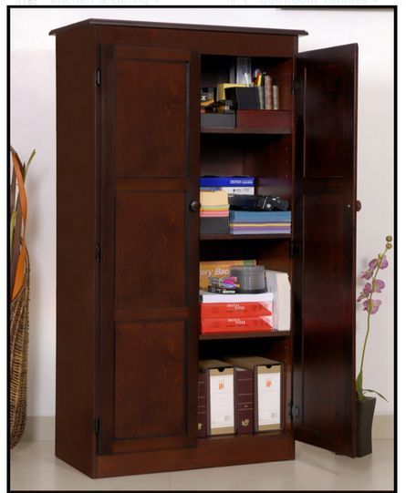 Tall Kitchen Storage Cabinet Home Office Organizer 4 Shelves Pantry Cupboard New Wood Storage Cabinets Office Storage Cabinets Storage Cabinets