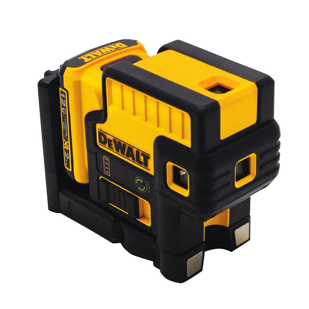 Dewalt 12 Volt Max Lithium Ion 100 Ft Green Self Leveling 5 Spot Beam Laser With Battery 2ah Charger Tstak Case Dw085lg With Images Dewalt