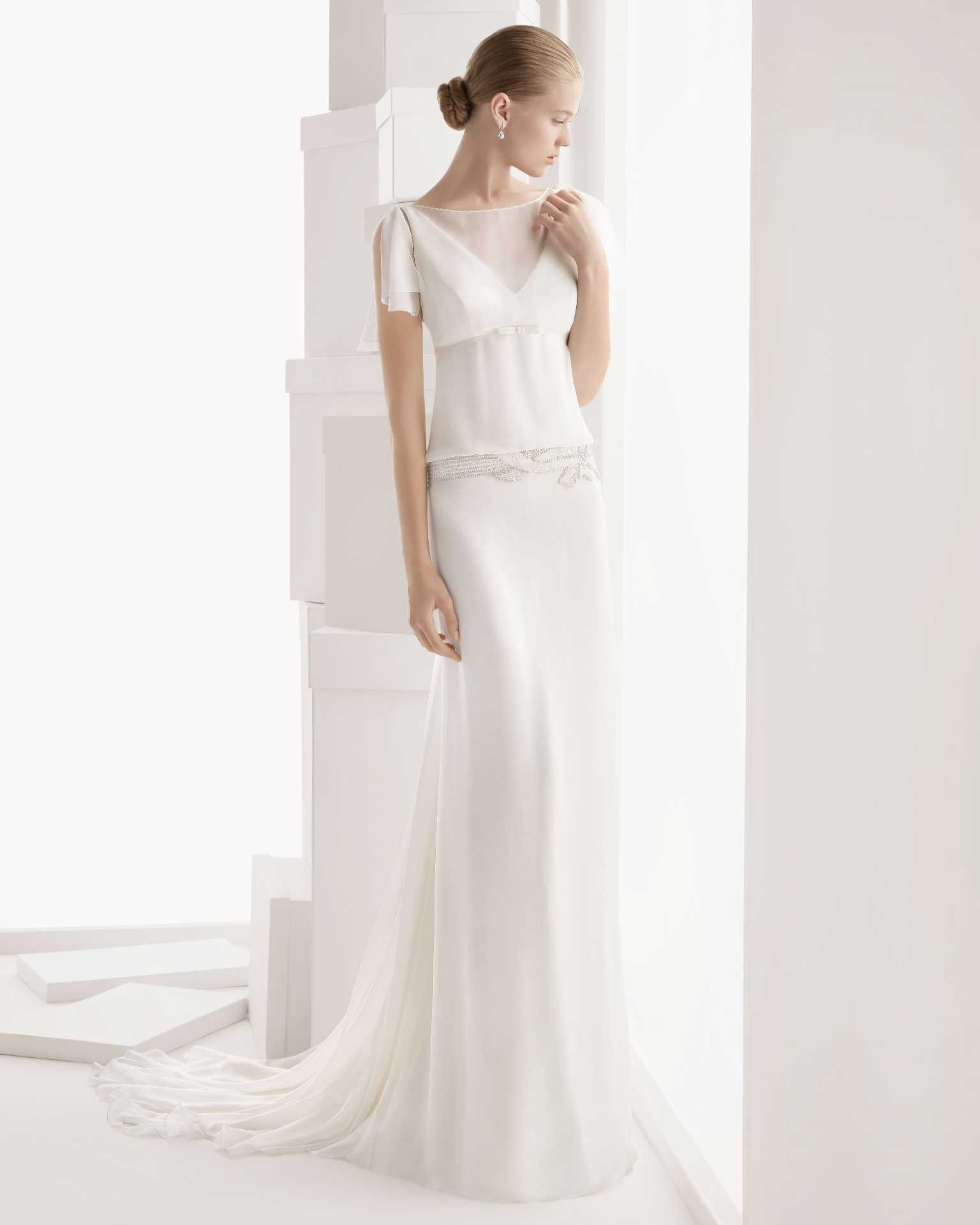 Tank top wedding dresses  Tank Top Court Train Chiffon Sheath Column Wedding Dress  weddings