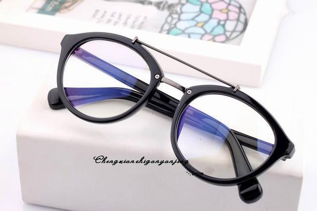a539b7aa3fa3 Chashma Korea Star Eye Glasses Women Optical Glasses Frame Black Leopard  Brown Plain Mirror Eyewear Myopia Glasses Frame
