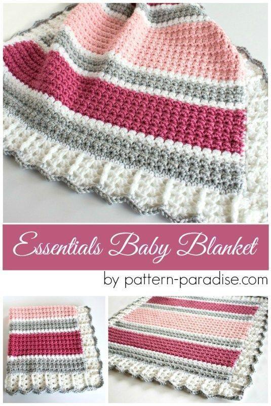 Free Crochet Pattern  Essentials Baby Blanket  44ab5379da1b