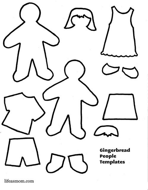Gingerbread People Template by FishMama1, via Flickr