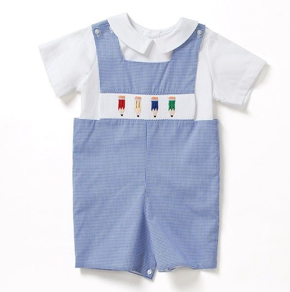 This is one of my favorites on totsy.com: Boys' Pencils Shortall