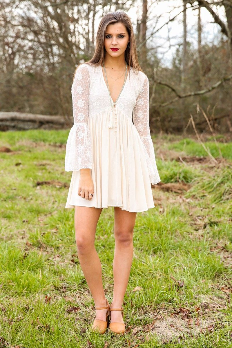 Begin Again Dress-Ivory - New Today