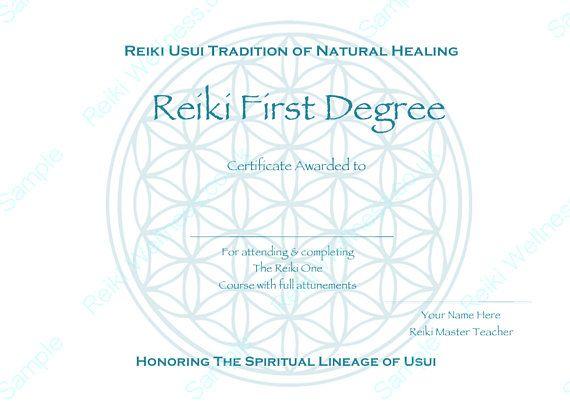 Reiki Certificates Templates X4 Flower Of Life Complete Reiki