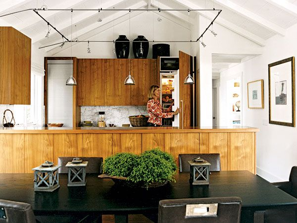 Interesting A Semi Treatment Vaulted Ceiling Kitchenvaulted Ceilingskitchen Track Lighting