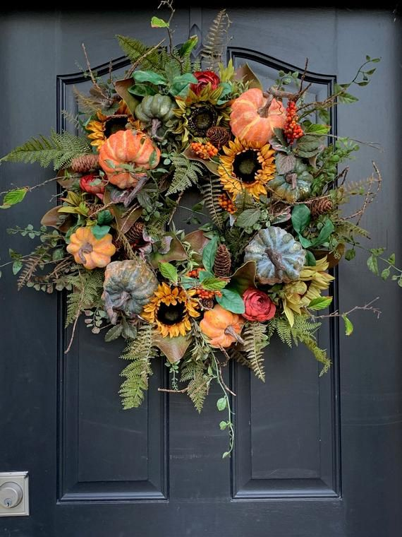Photo of Harvest Moon Wreath for Fall