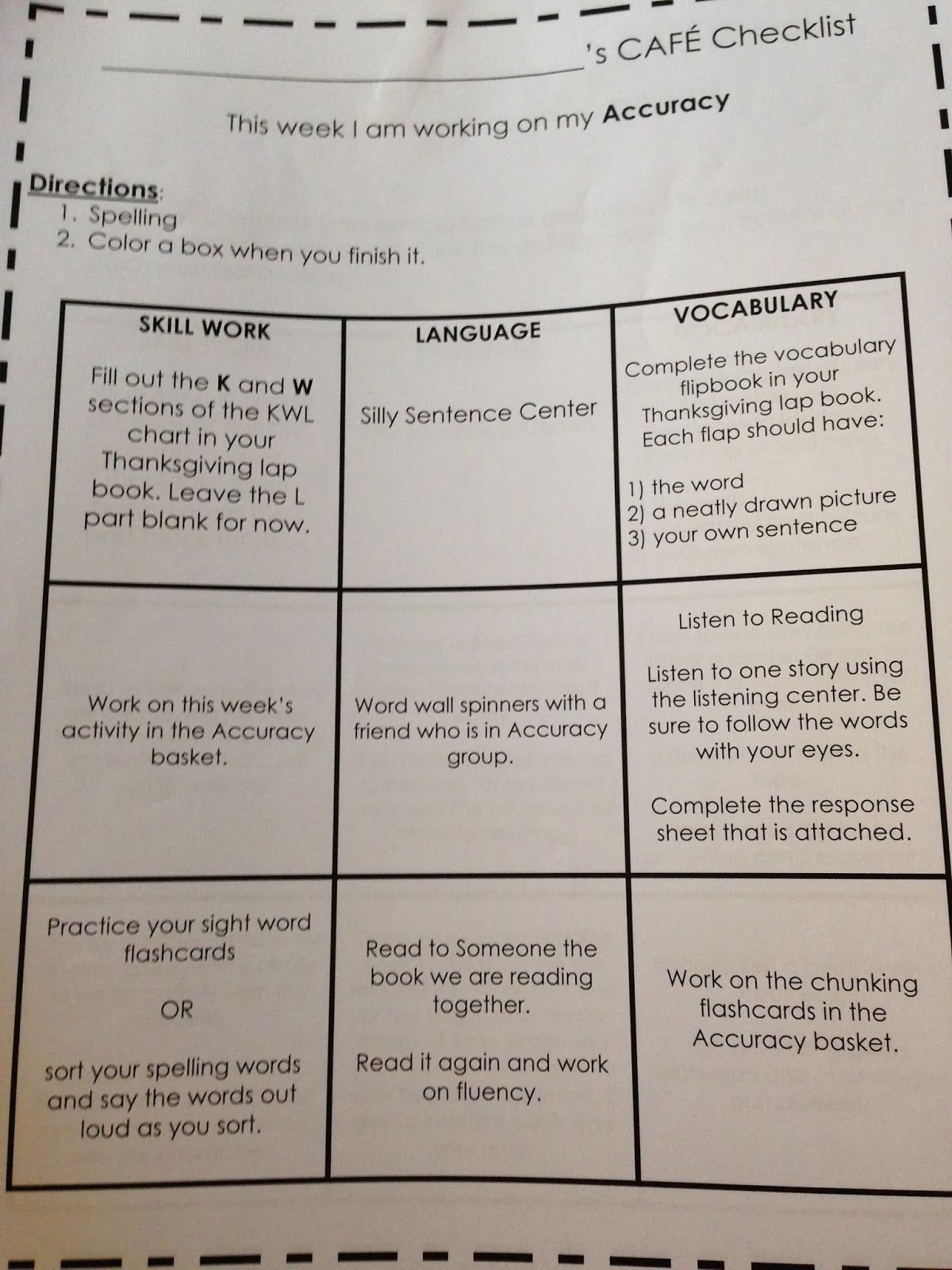 teaching reading with cafe menus: differentiation at work – my life