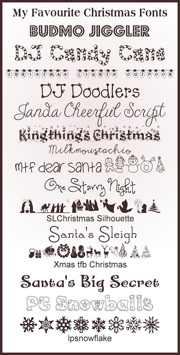 15 Christmas Fonts | Pinterest | Schöne schrift, Schrift und ...