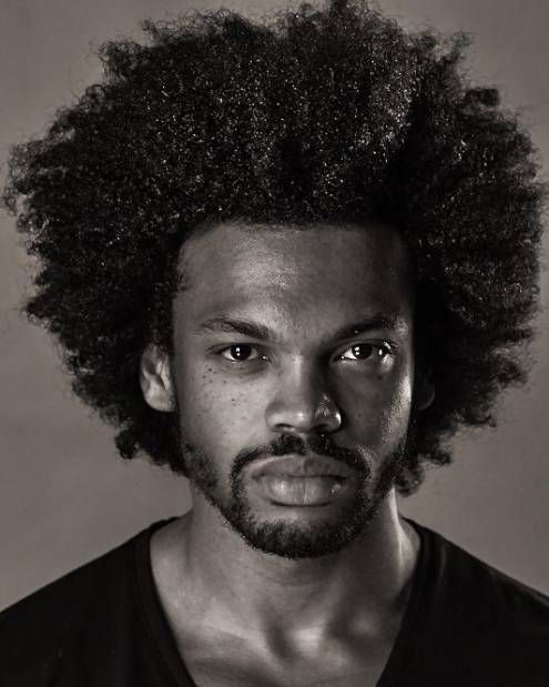 Thick Curly Haircut Black Men Haircut Chart (