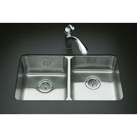 Kohler Double Basin Stainless Steel Kitchen Sink La Cucina