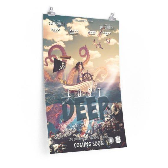 Custom Movie Print, Pirate Ocean Digital Backdrop, Film Poster, Cinema Poster, Custom Gift, Premium Matte vertical posters #filmposterdesign