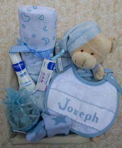Personalisierter Geschenkkorb für Babys