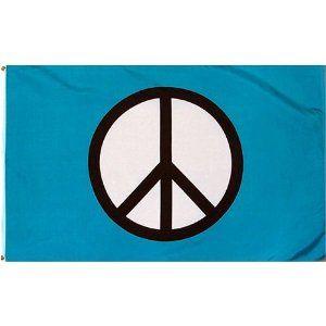 Peace Sign Standard Blue Flag 3x5 Foot Poly Peace Peace Sign Symbol Peace Flag