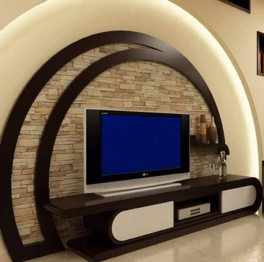kuhle dekoration tv natursteinwand, 13 ideas about modern tv wall units to impress you | interior, Innenarchitektur