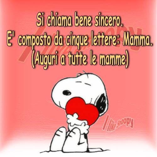 Auguri Mamma Mafalda C Festa Della Mamma Mamma E Snoopy