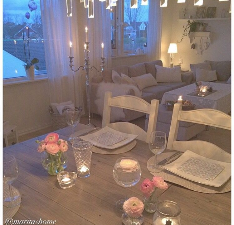 Candle Lit Dinner Is One Way To Increase Romance After A Baby Love This Home Decor Unique Home Decor Home