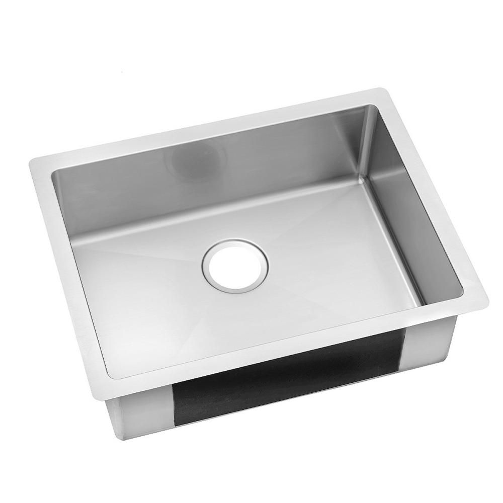 Kitchen sink stainless steel double drainer single bowl in vic ebay - Elkay Crosstown Undermount Stainless Steel 24 In Single Basin Kitchen Sink