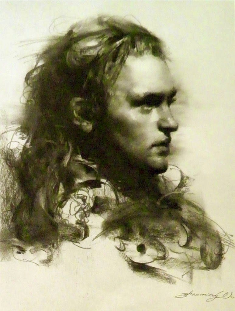 Black and White Charcoal Portraits | Charcoal portraits