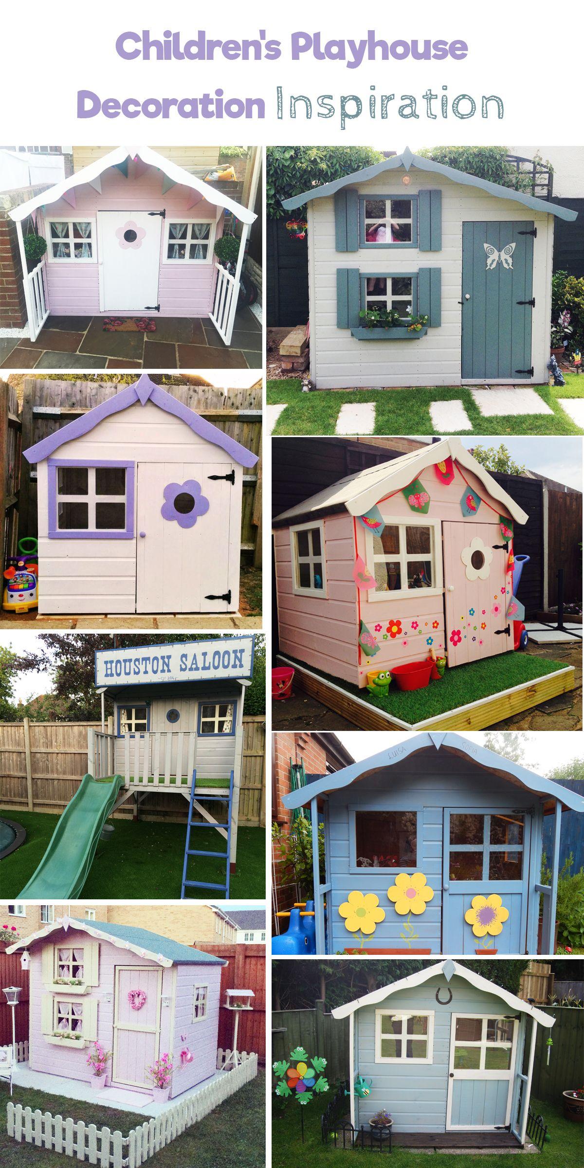 DIY: Girls and Boys Playhouse Designs For Backyard | Playhouse ...