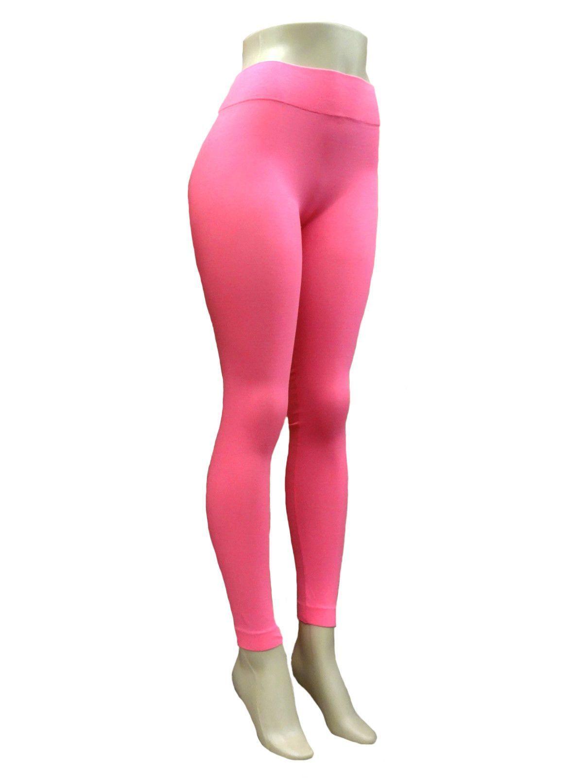 FREE SIZE Seamless Full Length Nylon Leggings Workout Stretch Skinny Pants