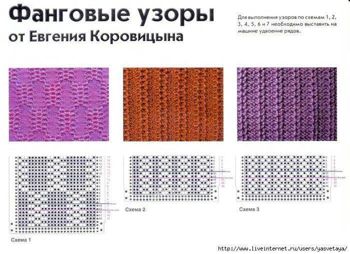 Схемы узоров для машины
