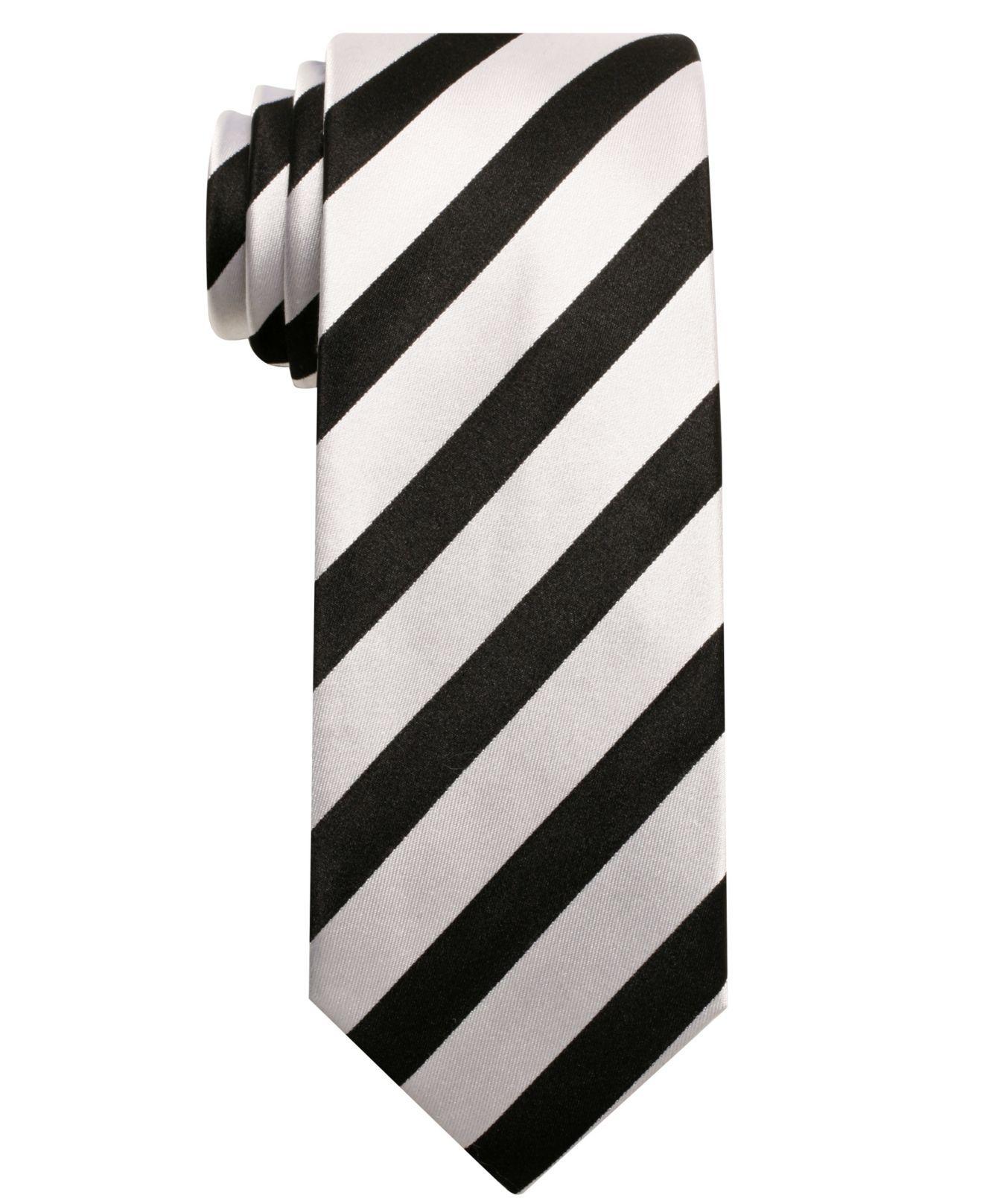 Alfani RED Tie, Skinny Bar Stripe