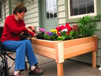 Wheelchair gardening tips gardens planters and elevated for Garden design ideas for disabled