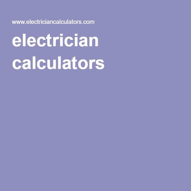 electrician calculators ChargingStations Pinterest Calculator