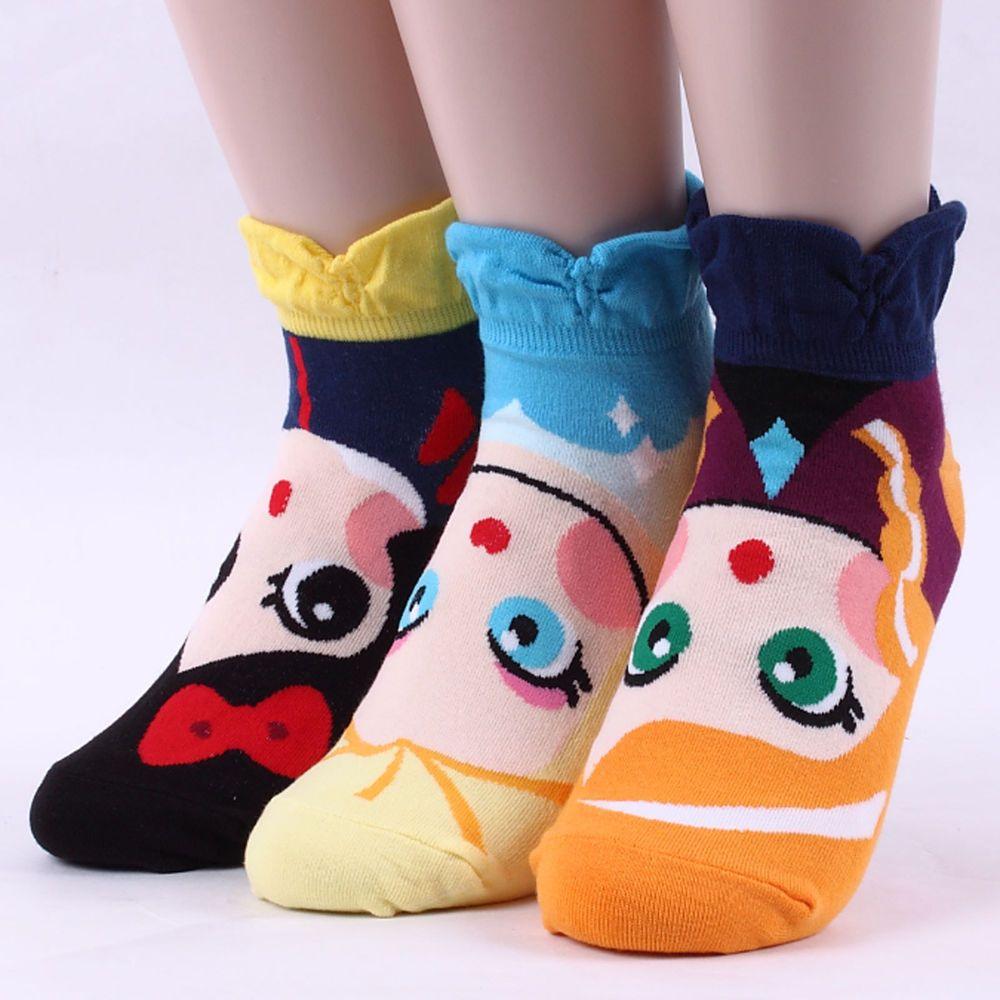 5 Pairs Womens Socks Girls Big Kids Cute Cartoon POPULAR Minion Character Socks