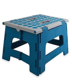 Easy Fold Step Stool To Get Up On The Tall Dorm Beds, And Reach Stuff