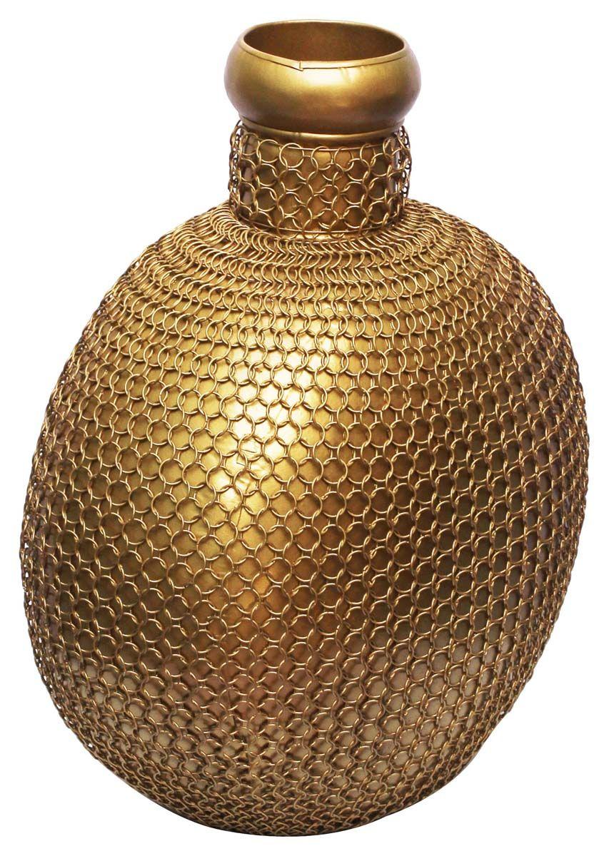Bulk wholesale handmade 15 iron flower vase in pot shape golden bulk wholesale handmade iron flower vase in pot shape golden color decorated with wire mesh art antique look home dcor from india reviewsmspy