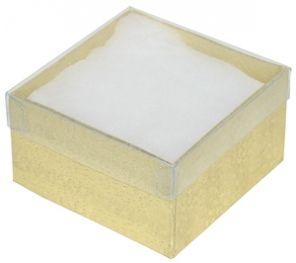 3 x 4 Clear Top View Cotton Filled Jewelry Box Price 3895box