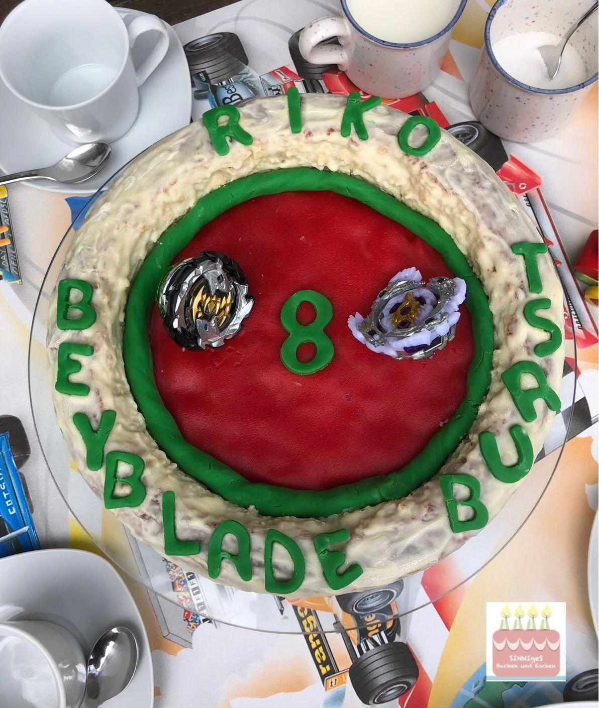 Beyblade Kuchen Arena Geburtstagskuchen Fur Jungen Schoko Gugelhupf Lebensmittel Essen