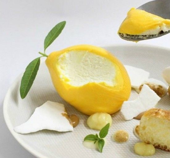 Lemon pie chef jesus escalera fuente de la imagen for Cocina molecular postres