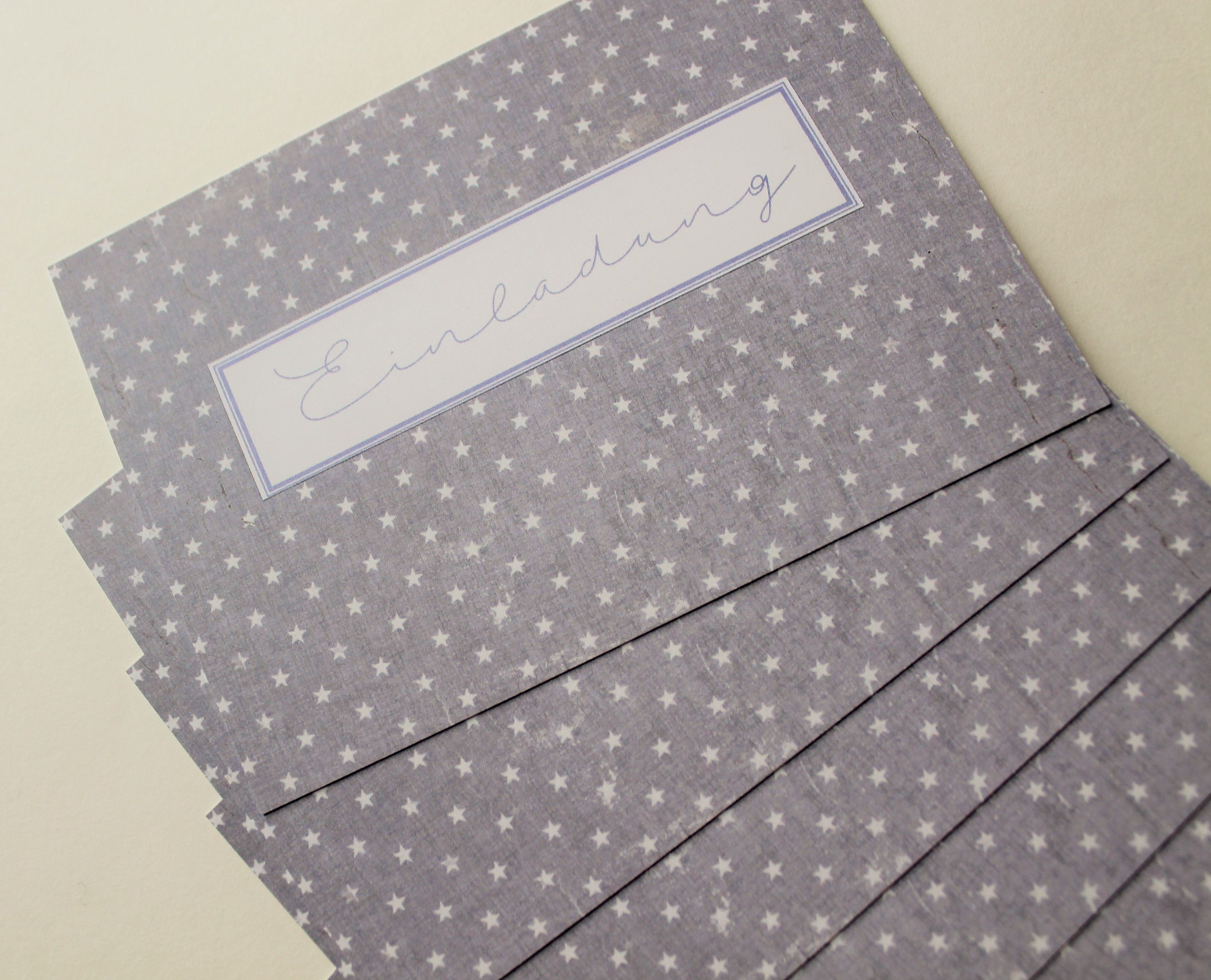 Einladungskarten Kindergeburtstag, Geburtstagseinladung, Kinder , Sterne,  Papiergarten Doreen Froede