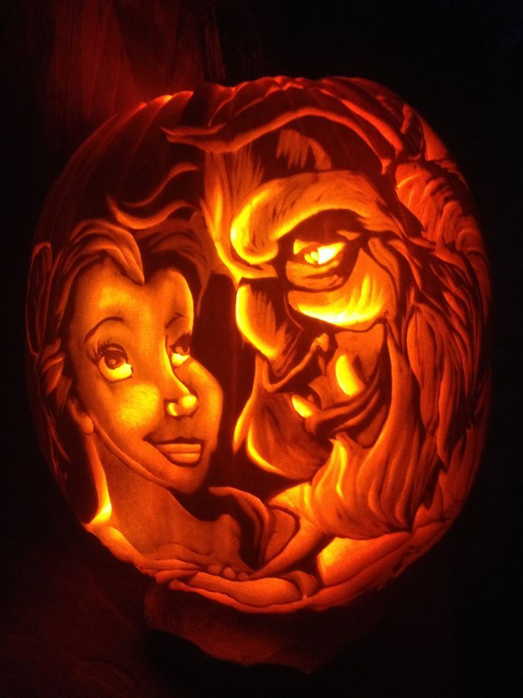 Beauty the beast pumpkin disney halloween pumpkins