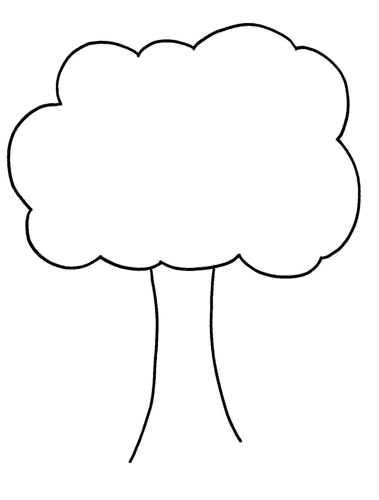 Trees outline. Clip art tree clipart
