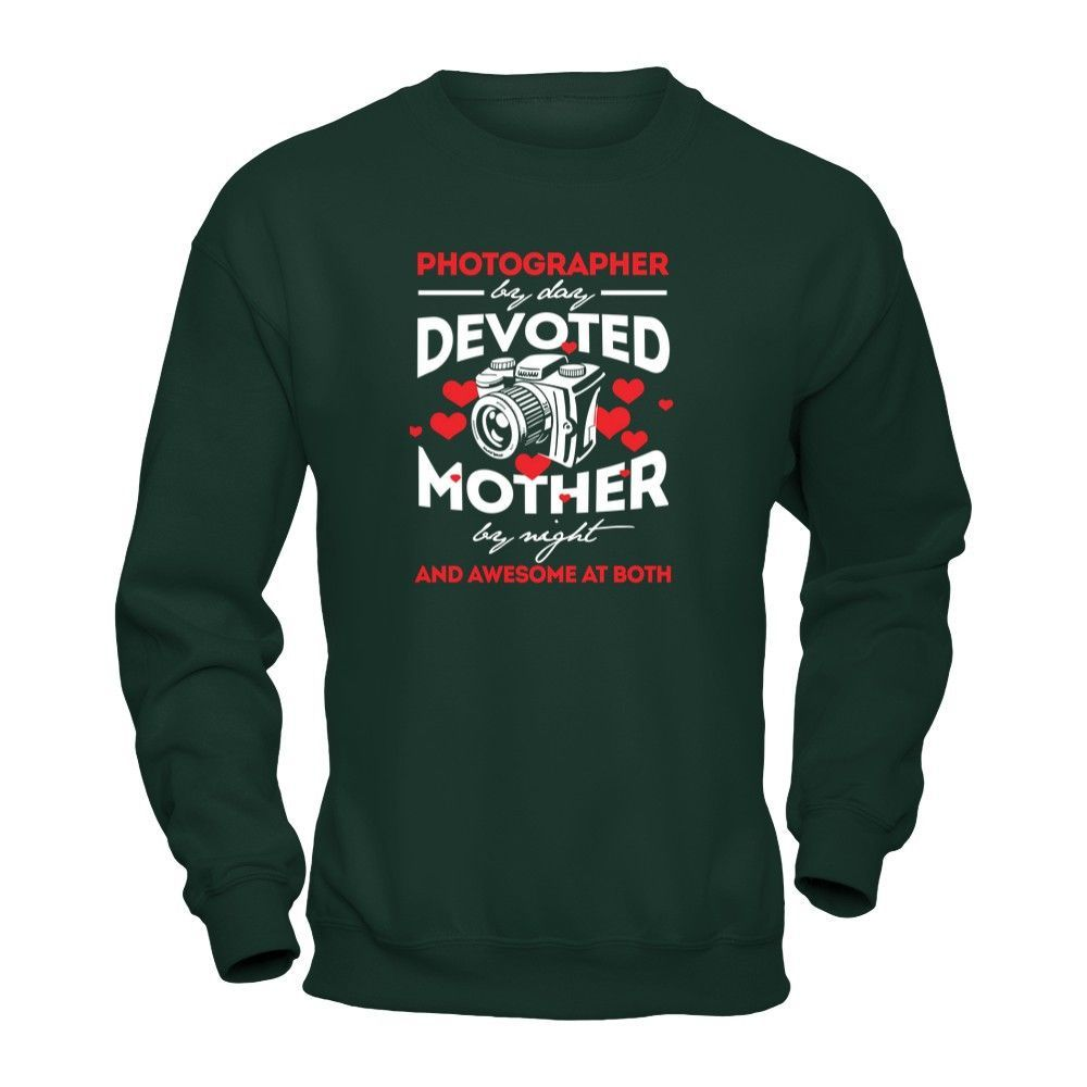 Photographer By Day Devoted Mother By Night - Shirts