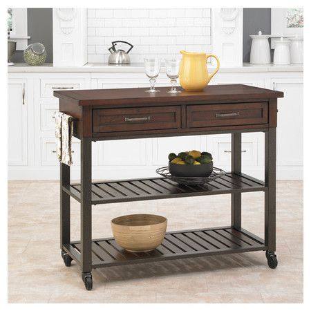 Bedford Kitchen Cart  Muebles  Pinterest  Kitchen Carts Fair Rustic Kitchen Cart Review