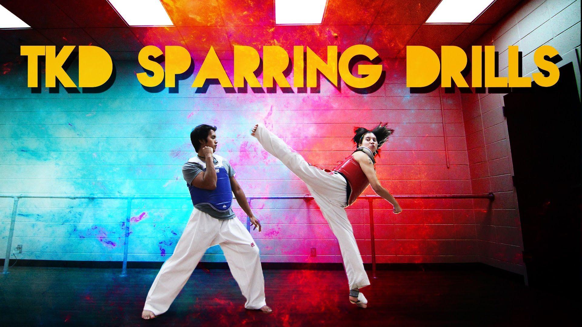 TKD Sparring Drills for Beginners | Taekwondo | Korean